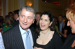 STEPHEN QUINN and KIMBERLEY FORTIER at the 2005 Clicquot Award - Business Woman of The Year award ceremony held at Claridge's, Brook Street, London W1 on 28th April 2005.