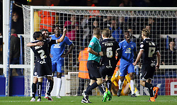 Will Grigg of Wigan Athletic celebrates scoring the second goal - Mandatory byline: Joe Dent/JMP - 07966 386802 - 20/10/2015 - FOOTBALL - ABAX Stadium - Peterborough, England - Peterborough v Wigan - Sky Bet League One