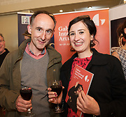 REPRO FREE:  Jim Connolly and  <br /> Elena Toniato from Atlantic language in Hotel Meyrick for the announcement of the programme for the 2018 Galway International Arts Festival Programme 16-29 July which features an exciting Irish and international programme of theatre, opera, dance, circus, music, spectacle, visual art, and First Thought Talks featuring interviews and discussions on the theme of home, six world premieres, five Irish premieres and artists and theatre makers from across the world. Highlights include world premieres of Paul Muldoon&rsquo;s Incantata, new plays by Sonya Kelly and Cristin Kehoe (Druid) and a new theatre installation from Enda Walsh, visual arts / installations commissions from David Mach Rock &lsquo;n&rsquo; Roll and Olivier Grosset&ecirc;te The People Build. Photo:Andrew Downes, xposure.
