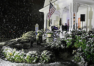 Pine Bush, NY - Snow falls during the Pine Bush Festival of Lights on Dec. 5, 2009.