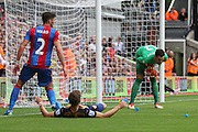 Alex McCarthy of Crystal Palace makes a save during the Barclays Premier League match between Crystal Palace and Arsenal at Selhurst Park, London, England on 16 August 2015. Photo by Ellie Hoad.
