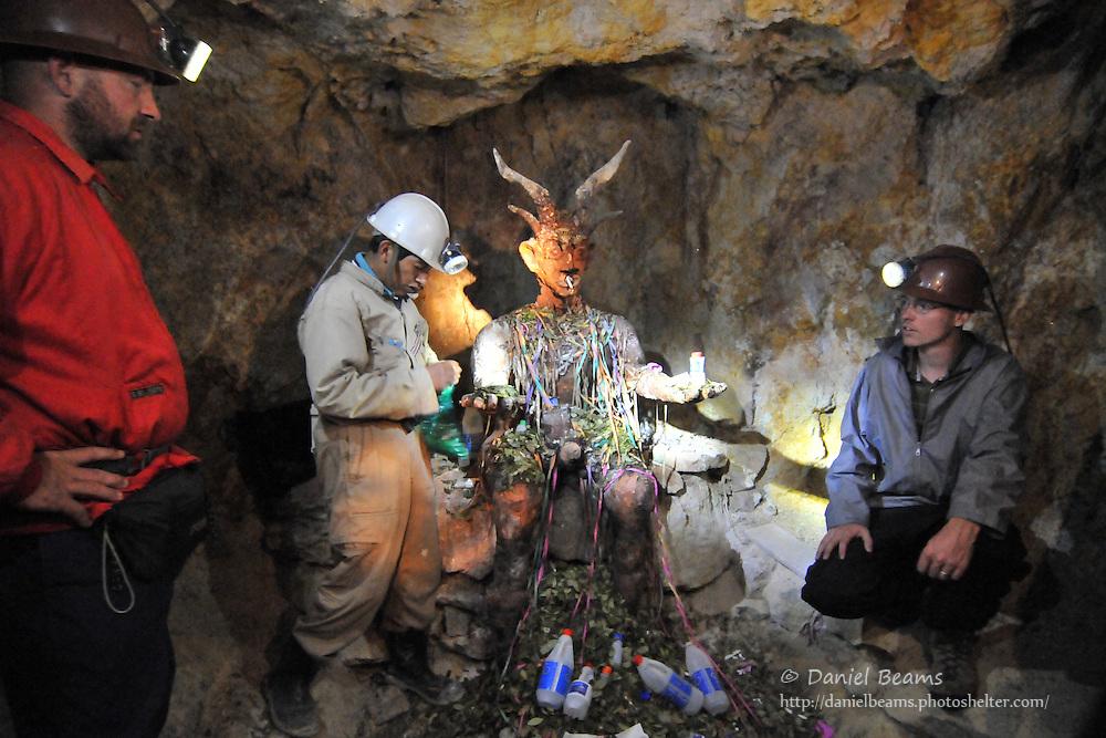 El Tio in the Potosi silver mines, Potosi, Bolivia