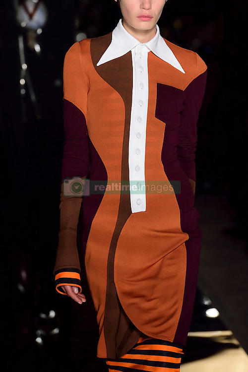 A model walks the runway during the Givenchy show as a part of Paris Fashion Week Ready to Wear Spring/Summer 2017 in Paris, France on October 02, 2016. Photo by Aurore Marechal/ABACAPRESS.COM  | 565449_003 Paris France