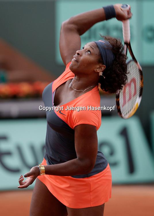 French Open 2009, Roland Garros, Paris, Frankreich,Sport, Tennis, ITF Grand Slam Tournament,<br /> <br /> Serena Williams (USA)<br /> <br /> Foto: Juergen Hasenkopf