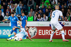 Petar Stojanović of Slovenia and Manor Solomon of Israel during the 2020 UEFA European Championships group G qualifying match between Slovenia and Israel at SRC Stozice on September 9, 2019 in Ljubljana, Slovenia. Photo by Grega Valancic / Sportida