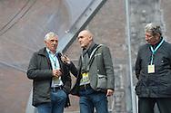 100° Giro delle Fiandre la De Ronde Van Vlaanderen,Brugge - Oudenaarde 255,9 km 255km, a sinistra Francesco Moser e Felice Gimondi, 3 Aprile 2016 © foto Daniele Mosna