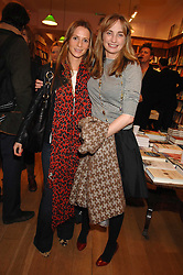 Left to right, AMANDA CROSSLEY and CLEMENTINE FRASER at a party to celebrate the publication of 'The Umbrella of Faith' by Willie Stirling held at the Daunt Bookshop, Holland Park Road, London W11 on 27th November 2007.<br />