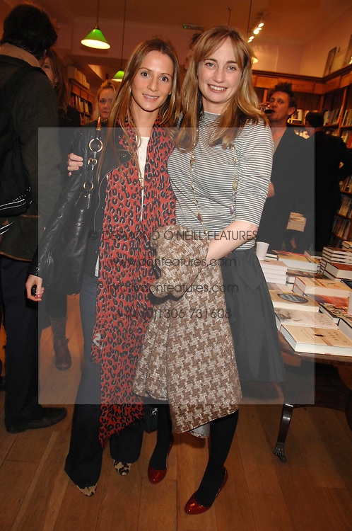 Left to right, AMANDA CROSSLEY and CLEMENTINE FRASER at a party to celebrate the publication of 'The Umbrella of Faith' by Willie Stirling held at the Daunt Bookshop, Holland Park Road, London W11 on 27th November 2007.<br /><br />NON EXCLUSIVE - WORLD RIGHTS