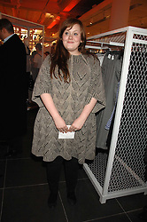 Singer ADELE ADKINS at a party to celebrate the opening of the new H&M store at 234 Regent Street, London on 13th February 2008.<br /><br />NON EXCLUSIVE - WORLD RIGHTS