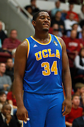 Dec 29, 2011; Stanford CA, USA;  UCLA Bruins center Joshua Smith (34) before a free throw against the Stanford Cardinal during the first half at Maples Pavilion.  Stanford defeated UCLA 60-59. Mandatory Credit: Jason O. Watson-US PRESSWIRE