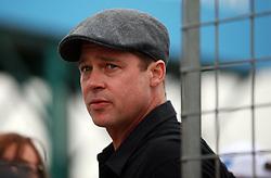 Brad Pitt during the Octo British Grand Prix at the Silverstone Circuit, Northamptonshire.