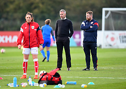 Willie Kirk head coach and Chris Roberts assistant coach for Bristol City Women - Mandatory by-line: Paul Knight/JMP - 28/10/2017 - FOOTBALL - Stoke Gifford Stadium - Bristol, England - Bristol City Women v Reading Women - FA Women's Super League