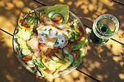 Deutschland Germany,Hessen.Hessen Rheingau-Taunus.Essen, Food: Strammer Max, Wein.food, speciality from Hessen...