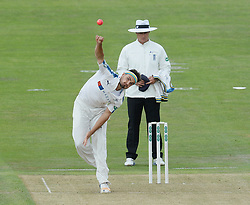 Yorkshire's Jack Brooks bowls with the pink ball during the Specsavers County Championship, Division One match at Headingley, Leeds. PRESS ASSOCIATION Photo. Picture date: Monday June 26, 2017. See PA story CRICKET Yorkshire. Photo credit should read: Anna Gowthorpe/PA Wire. RESTRICTIONS: Editorial use only. No commercial use without prior written consent of the ECB. Still image use only. No moving images to emulate broadcast. No removing or obscuring of sponsor logos.