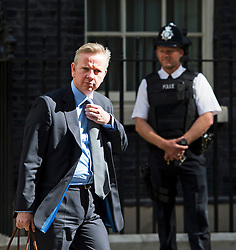 © Licensed to London News Pictures. 03/06/2015. London, UK. Secretary of State for Justice MICHAEL GOVE leaving number 10 Downing Street . Photo credit: Ben Cawthra/LNP