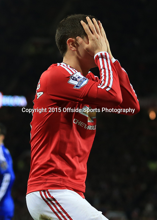 16 December 2015 - Barclays Premier League - Manchester United v Chelsea - Ander Herrera of Manchester United reacts to a missed chance - Photo: Marc Atkins / Offside.