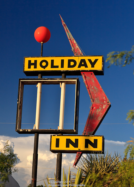 There used to be a Holiday Inn in Marfa, TX, but all that's left is a sign.