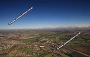 aerial photograph of Brownmoor Leeds Yorkshire England UK