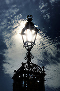 a victorian lamp post agains the sky