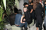 SUE WEBSTER AND NICK RHODES, Party hosted by Larry Gagosian at Nobu, Berkeley St. London. 9 October 2007. -DO NOT ARCHIVE-© Copyright Photograph by Dafydd Jones. 248 Clapham Rd. London SW9 0PZ. Tel 0207 820 0771. www.dafjones.com.