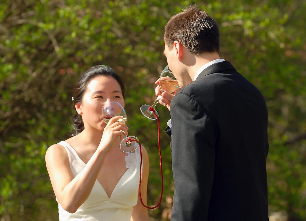 Wedding of Brad Peniston and Portia Wu on April 21, 2007.(photos by Alan Lessig/Wedding Photojournalist)
