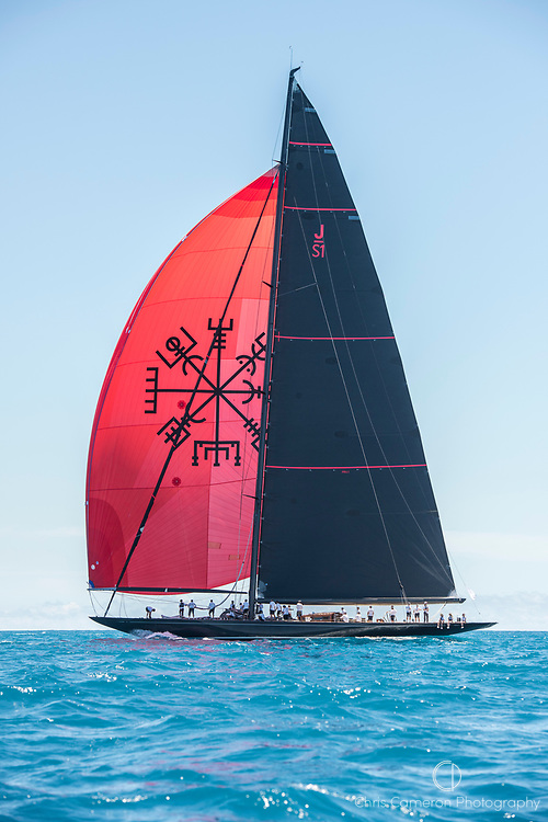 Bermuda, 14th June 2017. America's Cup Superyacht regatta. J Class race Two. Svea JS1