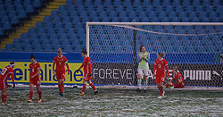 CESENA, ITALY - Tuesday, January 22, 2019: Wales' goalkeeper Laura O'Sullivan looks dejected as Italy score the opening goal during the International Friendly between Italy and Wales at the Stadio Dino Manuzzi. (Pic by David Rawcliffe/Propaganda)