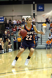 19 March 2010: Liz Ellis. The Flying Dutch of Hope College defeat the Yellowjackets of the University of Rochester in the semi-final round of the Division 3 Women's Basketball Championship by a score of 86-75 at the Shirk Center at Illinois Wesleyan in Bloomington Illinois.