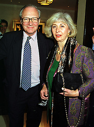 LORD & LADY RENWICK at a party in London on 29th September 1999.MWX 34