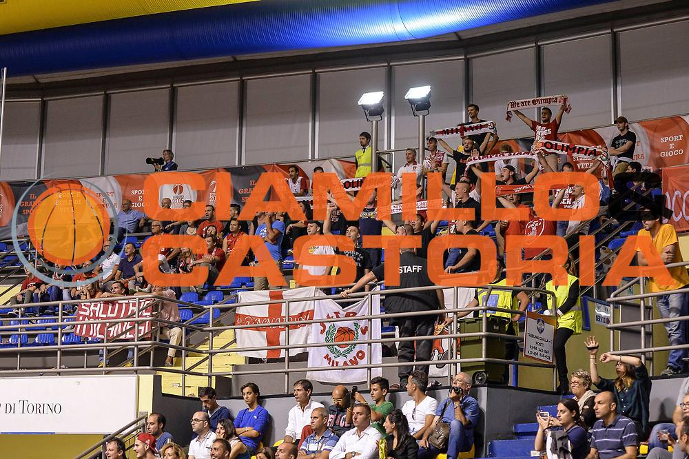 DESCRIZIONE : Supercoppa 2015 Semifinale Olimpia EA7 Emporio Armani Milano - Umana Reyer Venezia<br /> GIOCATORE : Ultras Milano<br /> CATEGORIA : Ultras Tifosi Spettatori Pubblico<br /> SQUADRA : Olimpia EA7 Emporio Armani Milano<br /> EVENTO : Supercoppa 2015<br /> GARA : Olimpia EA7 Emporio Armani Milano - Umana Reyer Venezia<br /> DATA : 26/09/2015<br /> SPORT : Pallacanestro <br /> AUTORE : Agenzia Ciamillo-Castoria/L.Canu