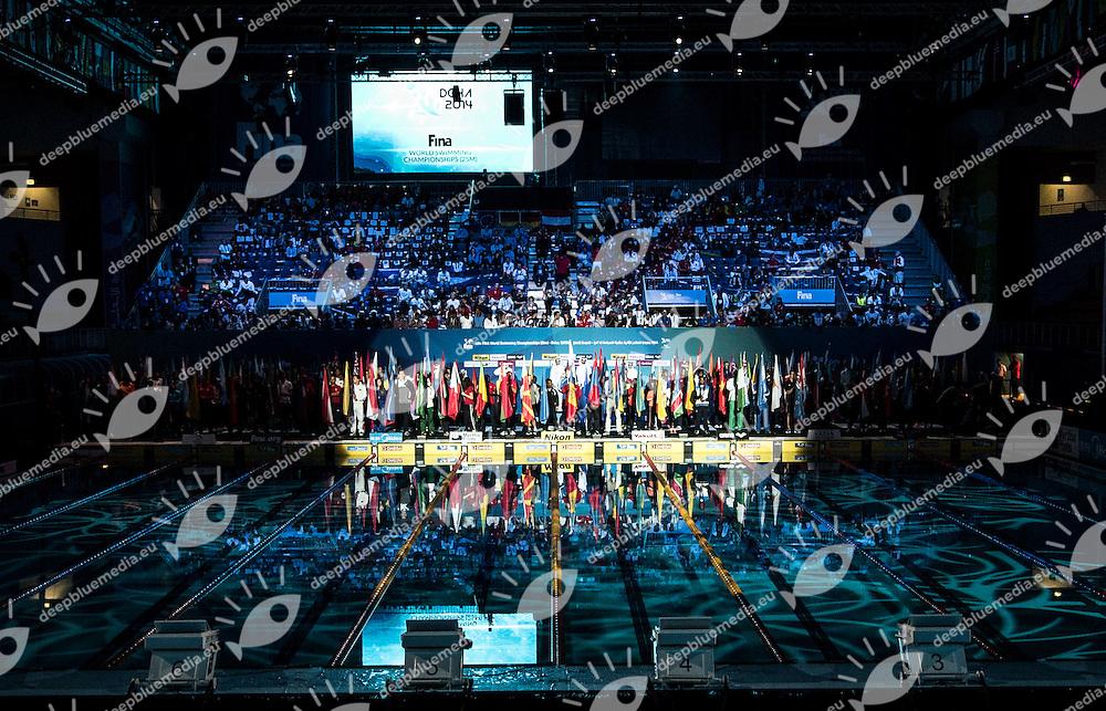 Opening Ceremony<br /> Doha Qatar 03-12-2014 Hamad Aquatic Centre, 12th FINA World Swimming Championships (25m). Nuoto Campionati mondiali di nuoto in vasca corta.<br /> Photo Giorgio Scala/Deepbluemedia/Insidefoto