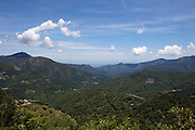 """View from the Col du Prato over the """"Castaniccia"""" which has its name from the chestnut forests covering most of it."""