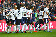 Tottenham players celebrate during the Premier League match between Tottenham Hotspur and Crystal Palace at Wembley Stadium, London, England on 5 November 2017. Photo by John Potts.