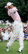 Spanish golfer Sergio Garcia is seen during the first round of the 2005 PGA Championship at Baltusrol Golf Club in Springfield, New Jersey, Thursday 11 August 2005.