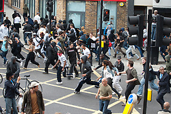 licensed to London News Pictures. London, UK. 8th August 2011. Rioting in Hackney, London. Violence around Mart Street in Hackney, East London. Please see special instructions for usage rates. Photo credit should read Jules Mattsson/LNP