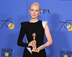 Laurie Metcalf, Saoirse Ronan, Greta Gerwig, Timothee Chalamet at the 75th Annual Golden Globe Awards held at the Beverly Hilton Hotel on January 7, 2018 in Beverly Hills, CA ©Tammie Arroyo-GG18/AFF-USA.com. 07 Jan 2018 Pictured: Saoirse Ronan. Photo credit: MEGA TheMegaAgency.com +1 888 505 6342