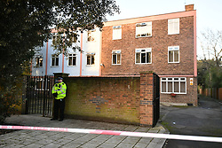 © Licensed to London News Pictures. 03/02/2020. London, UK.  Police at A bail hostel in Steatham, South London used by Sudesh Amman, near the scene on Streatham High Road where a man was shot dead by police yesterday after a number of people were stabbed. Metropolitan Police declared the incident terrorist-related. Photo credit: Ben Cawthra/LNP