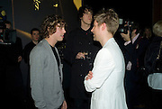 JOHNNY BORRELL AND CHRISTOPHER BAILEY, Vanity Fair Portraits: Photographs 1913-2008. Hosted by Burberry and Vanity Fair. National Portrait Gallery. London. 9 February 2008.  *** Local Caption *** -DO NOT ARCHIVE-© Copyright Photograph by Dafydd Jones. 248 Clapham Rd. London SW9 0PZ. Tel 0207 820 0771. www.dafjones.com.
