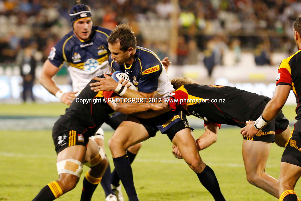 Andrew Smith in action for the Brumbies during their game at Baypark Stadium, Mt Maunganui, New Zealand. Friday,16 March 2012. Photo: Dion Mellow/photosport.co.nz
