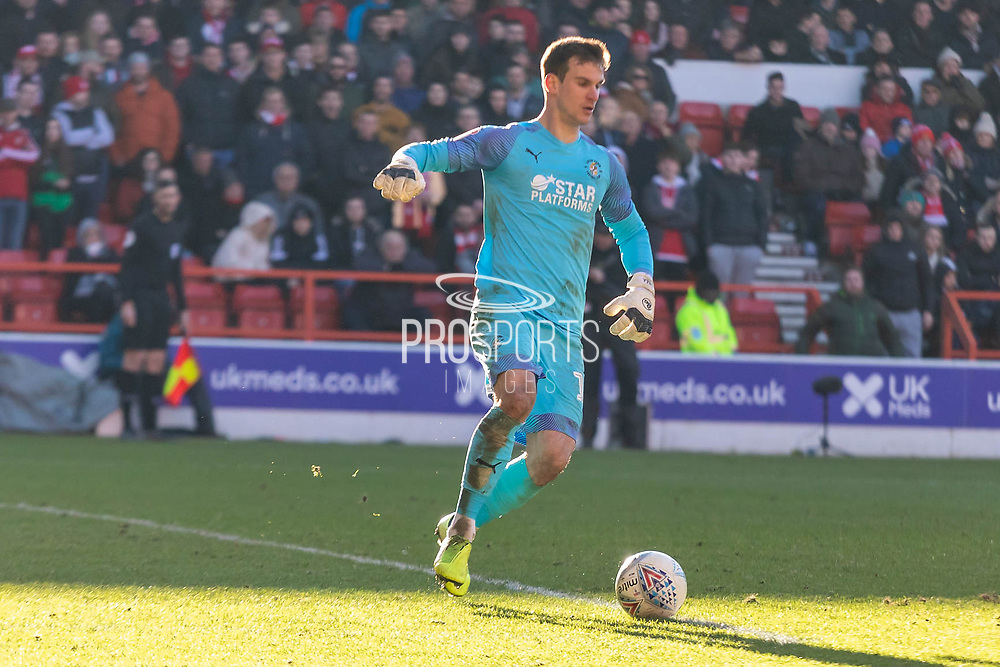 Simon Sluga (12) during the EFL Sky Bet Championship match between Nottingham Forest and Luton Town at the City Ground, Nottingham, England on 19 January 2020.