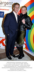 PETER & SOPHIA THOMPSON at a party in London on 20th October 2003.  PNP 299