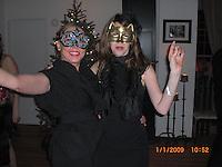 Aliza Deanna Julio Carlos Alexandra and Rahav on New Year's Eve 2008 in BK on Flatbush Ave. .