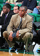 Dec 07, 2011; Birmingham, AL, USA; UAB Blazers head coach Mike Davis watches his team against the Middle Tennessee Blue Raiders at Bartow Arena. The Blazers defeated the Blue Raiders 66-56 Mandatory Credit: Marvin Gentry-