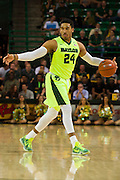 WACO, TX - MARCH 5: Ishmail Wainright #24 of the Baylor Bears brings the ball up court against the West Virginia Mountaineers on March 5, 2016 at the Ferrell Center in Waco, Texas.  (Photo by Cooper Neill/Getty Images) *** Local Caption *** Ishmail Wainright