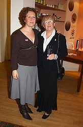 Left to right, BEVERLEY POND-JONES and JANE CLARK mother of musician Bryan Adams at a party attended by HRH The Countess of Wessex to celebrate the 5th birthday of Breast Cancer Haven's - The London Haven, Effie Road, London on 10th February 2005.<br />
