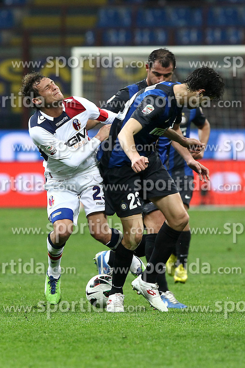 10.03.2013, Giuseppe-Meazza-Stadion, Mailand, ITA, Serie A, Inter Mailand vs FC Bologna, 28. Runde, im Bild Alessandro Diamanti Bologna // during the Italian Serie A 28th round match between Inter Milan and Bologna FC at the Giuseppe Meazza Stadium, Milan, Italy on 2013/03/10. EXPA Pictures © 2013, PhotoCredit: EXPA/ Insidefoto/ Paolo Nucci..***** ATTENTION - for AUT, SLO, CRO, SRB, BIH and SWE only *****
