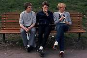 Teenagers in Green Park, London 1982