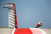 Spain's Marc Marquez, (93) in a practice session during the 2016 Grand Prix of the Americas Moto GP race at circuit of the Americas, in Austin, Texas on April 9, 2016.