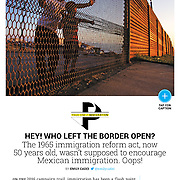 The US/Mexico border published by Newsweek, September 2015.