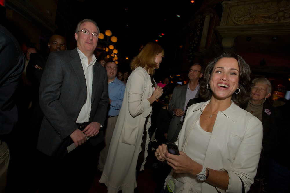 Washington, DC (November  17, 2010) -- Friends of longtime CNN DC cameraman Jerry Thompson work a fundraiser at Cuba Libre Restaurant for a foundation to see that Jerry's wife and children are cared for.  Jerry has recently been diagnosed with a second brain tumor.  He is a 25 year CNN cameraman and brain cancer victim who ran out of medical leave and lost his job.  He has stage 4 malignant glioblastoma, the same cancer that afflicted Sen. Ted Kennedy.  GBM is rare but pernicious, striking about 10,000 Americans each year. Jerry's diagnosis came shortly after the birth of his third child, Brandon, who's now 2. He and Ines are also raising Jason, 16, and Drew, 12.  Photo by Johnny Bivera